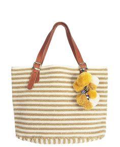 Gram Leather Handle, Straw Bag, Tassels, Beads, Detail, Crochet, Lush, Handmade, Note