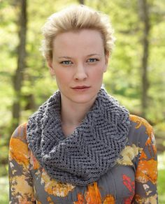 Grey Lace Cowl ~ free pattern