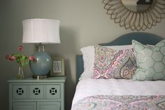 Kristie Barnett, The Decorologist, is a design, home staging and paint color expert based in Nashville who educates professionals and design enthusiasts. Master Bedroom Redo, Bedroom Decor, Master Bedrooms, Dream Bedroom, Interior Design Jobs, Interior Decorating, Paint Color Schemes, Paint Colors, Grey House Paint