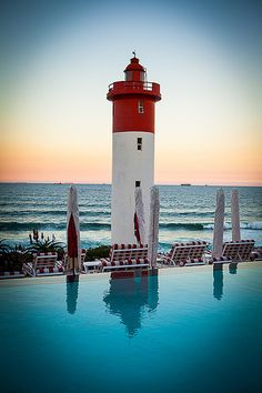 Lighthouse Bar at the Oyster Box Hotel - KwaZulu-Natal, South Africa.