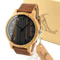 BOBO BIRD Fashion 2016 Men's White Maple Wood Watches With Genuine Leather Band Luxury Wood Watches for Men Best Gifts Item #>=#>=#>=#>=#> Click on the pin to check out discount price, color, size, shipping, etc. Save and like it!