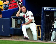 Chipper Jones Photos  Chipper Jones  10 of the Atlanta Braves watches the action against the Baltimore Orioles at Turner Field on June 16 2012 in Atlanta Georgia.  Baltimore Orioles v Atlanta Braves Baltimore Orioles Baseball, Braves Baseball, Atlanta Georgia, Atlanta Braves, Chicago White Sox, Boston Red Sox, Jones Baby, Turner Field, Chipper Jones