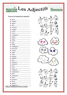 Teaching 299207968971188609 - Masculin/Féminin des Adjectifs Source by French Adjectives, French Verbs, French Grammar, French Phrases, French Expressions, French Language Lessons, French Language Learning, French Lessons, French Teacher