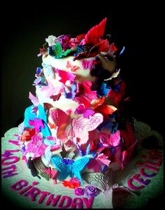 Butterflies Cake ~ Custom-Made-To-Order Cakes & Desserts for All Occasions  www.sumptuoustreats.com