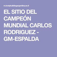 EL SITIO DEL CAMPEÓN MUNDIAL CARLOS RODRIGUEZ - GM-ESPALDA