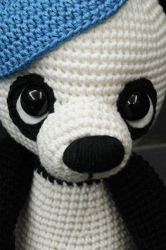 Háčkovaná panda Danni  - Návod
