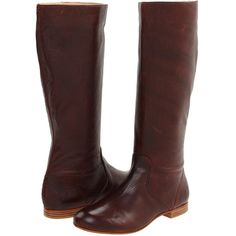 Frye Jillian Pull On Women's Zip Boots, Brown ($230) ❤ liked on Polyvore