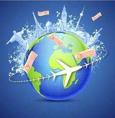Around the Globe Travel - Free Vectors #freevectors #vector #vectorgraphics