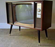 mid century tv set
