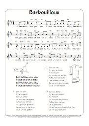 Barbouilloux, une chanson pour enfant tirée du double CD Fête aux Sornettes de Brigitte le Borgne. Borgne, Sheet Music, Kids Songs, Nursery Rhymes, Home, Music Sheets