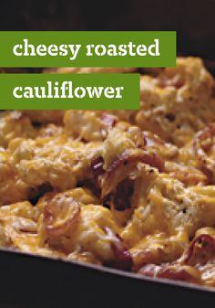 Cheesy Roasted Cauliflower – Roasting cauliflower gives it a rich ...