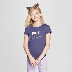 b712e1de407 Grayson Social Girls   Part Unicorn  Short Sleeve T-Shirt - Navy XL