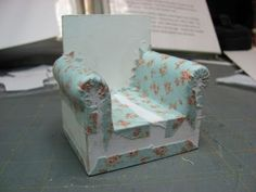 18 Inch Doll Furniture Tutorials | Furniture - Tutorials | 1 inch minis: CHAIR UPHOLSTERING TUTORIAL ...
