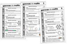 Des gammes de maths