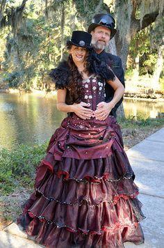 Steampunk Wedding Dress Available in many by WeddingDressFantasy, $925.00     Keywords: #steampunkweddings #jevelweddingplanning Follow Us: www.jevelweddingplanning.com  www.facebook.com/jevelweddingplanning/