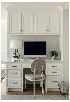 Kitchen Office Nook, Kitchen Desk Areas, Kitchen Desks, Home Office Space, Home Office Design, Home Office Furniture, Home Office Decor, Kitchen Desk Organization, Kitchen Work Station