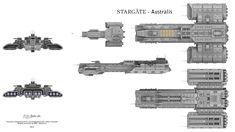 USAF Australis Fan design based on the TV series Stargate. Commissioned for and designed by kim-andre Grosland Spaceship Art, Spaceship Design, Spaceship Concept, Stargate Ships, Stargate Atlantis, Star Trek Enterprise, Star Trek Voyager, Space Battles, Firefly Serenity