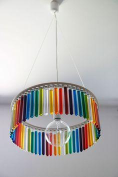 test tube chandelier -- so cool!