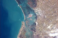 Venice, Italy from space station.