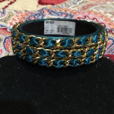 Beautiful teal and gold bracelet Never worn Jewelry Bracelets