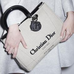 The Diorissimo Canvas Bag #fashion #fashioniq