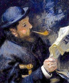 "A celebrity reader: ""Monet Reading a Newspaper"" by Renoir"