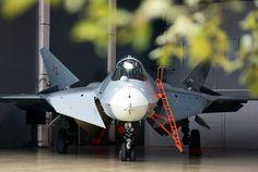 PAK FA T-50.  In the territory of  a flight-test complex Sukhoi Company. Photographer Marina Lystseva