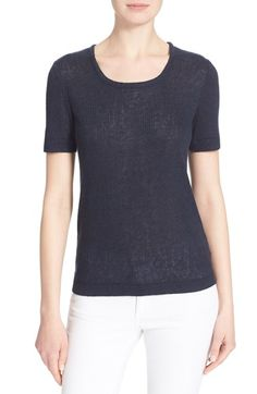 TORY BURCH 'Cameron' Rib Knit Tee. #toryburch #cloth #
