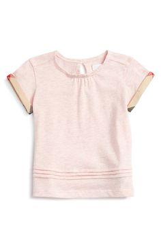 Burberry 'Gisselle' Cuff Sleeve Tee (Baby Girls)