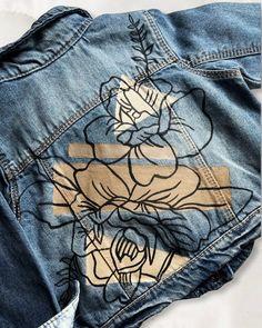 "♥ ART by Heart Laura ♥ on Instagram: ""So cute 😍 baby custom jacket! #baby #genderreveal #art #artist #customjacket"""