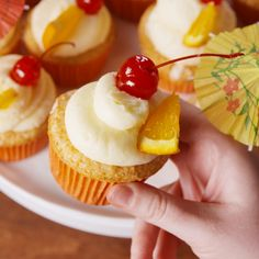 These cupcakes will take you there. #food #easyrecipe #baking #cupcakes #dessert