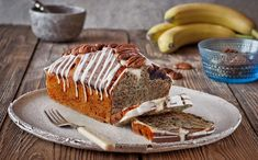Banana loaf has never looked (or tasted) so good – drizzled with white chocolate and dotted with pecan nuts, this chocolate banana recipe is delightfully moist and easy to make.