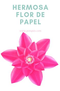 Aprende a realizar esta flor de papel. Paso a paso en mi web y Molde Disponible para descargar gratis. Ponquis.com Paper Flowers, Coupon Codes, Grocery Lists, Card Stock, Free Downloads, Budget