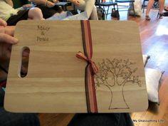 wood burned cutting board...