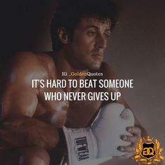 It's hard to beat someone who never gives up