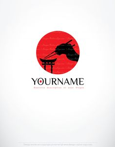 Logo design japan online logo creator japanese style label l Double Sided Business Cards, Free Business Cards, Samourai Tattoo, Online Logo Creator, Logo Design Examples, Restaurant Logo Design, Japan Logo, Cafe Logo, Logo Images