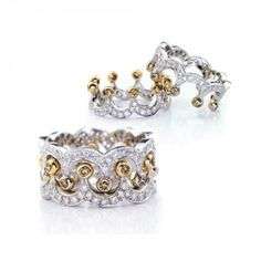 Yellow Crystal Crown Sterling Silver Women Ring