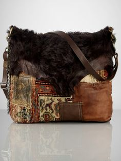 Carpet Patchwork Small Tote from Ralph Lauren. Shop more products from Ralph Lauren on Wanelo. Ralph Lauren Handbags, Ralph Lauren Bags, Ralph Lauren Taschen, Leather Handbags, Leather Bag, Tapestry Bag, Carpet Bag, Boho Bags, Leather Projects