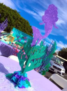 Angel M's Birthday / Mermaids - Photo Gallery at Catch My Party Mermaid Theme Birthday, Little Mermaid Birthday, Little Mermaid Parties, Mermaid Party Decorations, Birthday Party Decorations, Party Themes, Party Ideas, Mermaid Baby Showers, Baby Mermaid