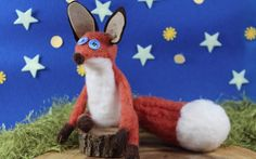 A felted wool fox inspired by the The Little Prince.