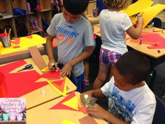 Make campfire hats:  Blog post from Creating Readers and Writers: Let's Go Camping!
