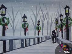 "@PaintNite 15 Dec 2015  ""#Winter Kiss II"" by Paint Nite #Harrisburg #artist Samantha Weyant. >> http://www.PaintNite.com  #December"