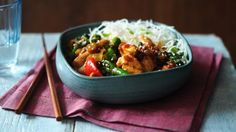 BBC Food - Recipes - Stir-fried chicken and broccoli with noodles