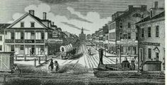 On this date, March 24, 1828, the Pennsylvania legislature authorized the construction of the Columbia & Philadelphia Railroad because no viable water route could be found between Philadelphia and the Susquehanna River that also passed through Lancaster (as stipulated by law). This 82-mile-long railroad became the easternmost segment of the Main Line Canal system. The engraving shows the Columbia Railroad as it passed through Lancaster in the early 1840s. (dkb)