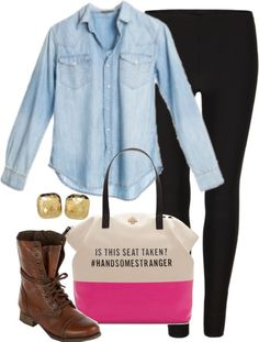 """Combat Boots"" by classically-preppy ❤ liked on Polyvore"