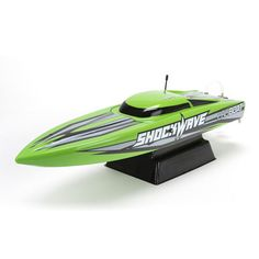 If you crave high-speed Deep-V boating without compromise, then the Pro Boat® ShockWave Deep-V powerboat has you covered with relentless features and impressive performance characteristics.