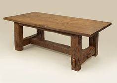 Reclaimed Hand Hewn Table