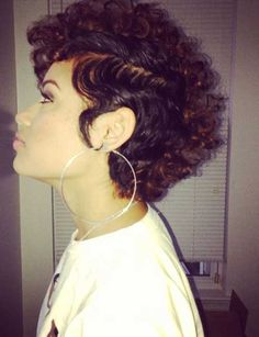 Super Short Curly Hairstyles 2015