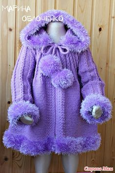 Coat for baby - carola valenzuela - - Coat for baby - carola valenzuela Crochet Baby Poncho, Knitted Baby Cardigan, Baby Pullover, Knitted Baby Clothes, Crochet Doll Clothes, Girls Sweaters, Baby Sweaters, Kids Poncho, Baby Coat