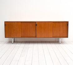 Teak Sideboard by Florence Knoll for Knoll International Teak Sideboard, Florence Knoll, Mid Century Design, Vintage Designs, 1950s, Cabinet, Storage, Furniture, Home Decor
